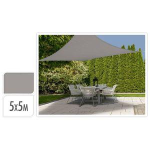 ProGarden Sonnensegel 5x5 m Grau Quadratisch