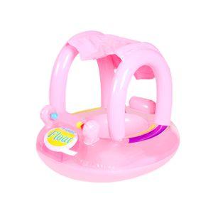 Baby Schwimmsitze Tragbarer aufblasbarer Kreis Baby Float Kinder Schwimmkreis mit Sonnenschutz Sitz Pool Schwimmhilfe Ring
