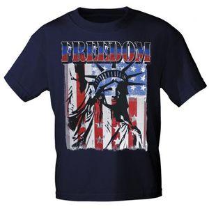 T-SHIRT Print USA Freedom Freiheitsstatue Amerika 10983 Gr. S-3XL Color - Navy Größe - XL