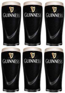Guinness Biergläser 1 Pint 0,5 L - 6 Stück