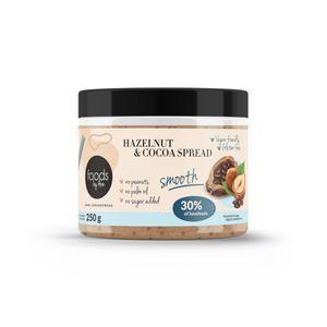 Nuss-Nougat-Creme 30% smooth Brot-Aufstrich zuckerarm ohne Zuckerzusatz und ohne Palmöl, Laktosefrei, Vegan, glutenfrei, Shea-Öl Foods by Ann 250g