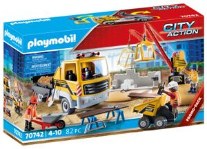 PLAYMOBIL City Action 70742 Baustelle mit Kipplaster