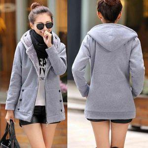 Frauen einfarbigen Mantel Langarm Jacke Baumwolle Bluse Mode Tops Größe:XXL,Farbe:Grau
