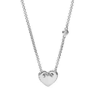 Fossil JFS00425040 Kette mit Anhänger Folded Heart Sterling-Silber