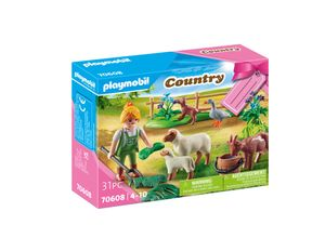"PLAYMOBIL Country 70608 Geschenkset ""Bäuerin mit Weidetieren"""