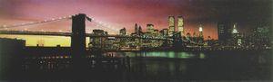 New York Poster Brooklyn Bridge im Sonnenuntergang - Langbahnposter