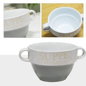 Suppentasse Suppen Tasse Suppenschüssel Schüssel Suppenterrine Suppe Landhaus (Grau)