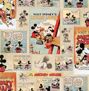 Disney Mickey Maus - Vintage/Retro - Papiertapete - Mehrfarbig - 10mx52cm