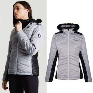 Dare 2b -  Damen Skijacke Comprise Luxe Daunen Winterjacke, grau, Damengröße:34/XS