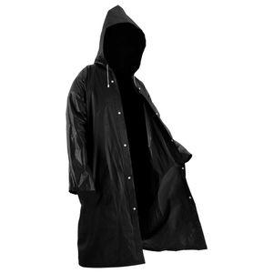 Transparent Raincoat Außen Reise Regen Camping Kapuze Kunststoff Regen-Abdeckung -(Schwarz,)