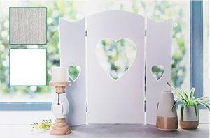 60cm Wandschirm Weiss Fensterdeko Shabby Fensterladen Deko Herz Paravent Landha