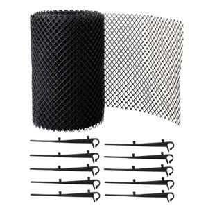 Dachrinnenschutz Mesh Net Leaves P-rotection Cover Net Set Kit Rolle 7¡± x 26 Fuss mit 10 Clip-Befestigungshaken Zuschneidbar