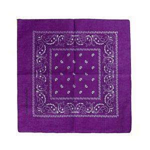 Vevendo Bandana Halstuch Accessoire 100 % Baumwolle - Farbe: lila
