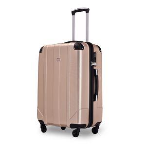 Koffer Handgepäck Koffer ( Bordcase ) - Farbe Champagner Größe XL - Reisekoffer - Trolley Hartschale