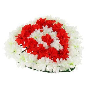 Chrysantheme Kranz Grabblumen Grabschmuck Dekoration für Totensonntag Allerheiligen und Trauerfeier, Herzform Design Farbe 2