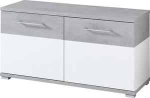 """Germania Schuhbank """"GW-TOPIX"""" in Weiß/Beton-Optik, 96 x 51 x 40 cm (BxHxT), 3772-531"""