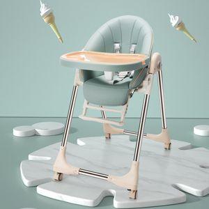Kinder Hochstuhl OUNUO Baby Mitwachsender Kinderstuhl Babystuhl 5 Höhen Verstellbare Rückenlehne Abnehmbares Tablett 6 Monaten - 6 Jahre