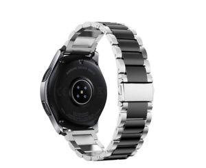 46mm Premium Edelstahlband Uhren Armband Für Samsung Galaxy Watch Silber Schwarz