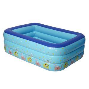 Sunnyme Aufblasbarer Pool 130 x 85 x 45cm Planschbecken Kinderbecken Family Pool Schimmbecken Kinderpool