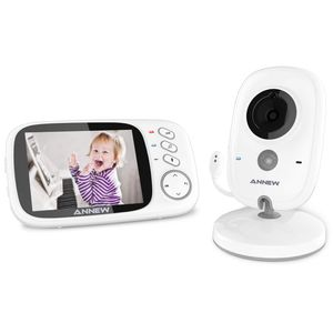 "Babyphone mit Kamera, Smart Baby Monitor Video Überwachung mit 3.2"" Digital LCD Bildschirm Wireless, VOX, Nachtsicht, Wecker, Temperaturüberwachung, Gegensprechfunktion, Wiederaufladba"