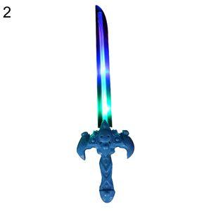 LED Schwert Spielzeug,Nette Plastik blinkende LED Licht Schwert Messer Axt Spielzeug Kinder Geburtstagsgeschenk,2#