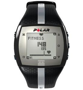 Polar FT7M Herren Sportuhr Schwarz/Silber inklusive H1 Herzfrequenzmesser