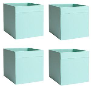 4x Dröna Set Ikea türkis Box für Regal Kallax Aufbewahrung Kiste