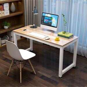 Computertisch PC Tisch Schreibtisch Bürotisch 120 x 60 x 75 cm Farbe: Weiß/Walnuss
