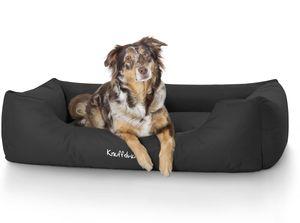 Knuffelwuff Hundebett Finlay aus Nylongewebe XXL 120 x 85cm Schwarz