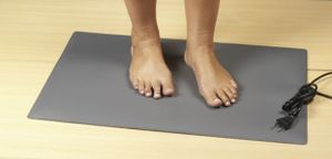 Eliga Fuß Wärmematte 70 Watt für Infrarotkabinen grau