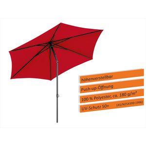 Sonnenschirm Sevilla 270/6, Farbe wählbar , Farbe:rot