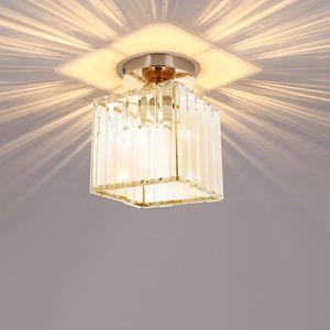 Kristall Deckenleuchte Kronleuchter Deckenlampe Lüster Leuchte LED Pendelleuchte Design Echtes Kristall Flur bündig Decke Licht Kronleuchter