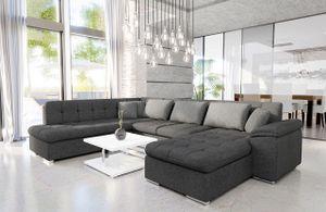 Mirjan24 Ecksofa Niko Bis, Bettkasten und Schlaffunktion, Sofa vom Hersteller, Wohnlandschaft, Polstergarnitur (Lux 06 + Lux 06 + Lux 05, Seite: Rechts)