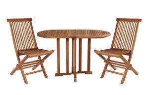 Sitzgruppe Sitzgarnitur Teak Holz Gartenset Gartengarnitur Gartenmöbel Balkonset