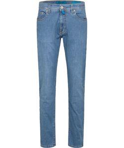 Pierre Cardin Herren Jeans Hose Lyon Trapered Fit Futureflex 3451-8885 45*, Farbe:45 Blue Denim, Größen Pierre Cardin:W38/L32