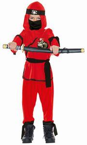 Rubie's kostüm Ninja junior rot/schwarz Größe 152