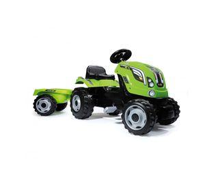 Smoby Traktor mit Anhänger, Claas Dunkelgrün