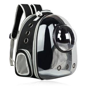 Haustier Reise Rucksack, Katzentransportrucksack,Mit transparenter Abdeckung,Faltbarer tragbarer Haustier-Rucksack für Hunde und Katzen,schwarz