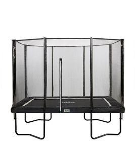 Salta Premium Black Edition - rechteckig - 214x305cm - 7x10ft - Schutzrand Schwarz - Trampoline mit hochwertigen Sicherheitsnetz