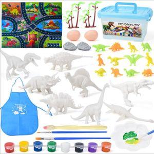 NightyNine Dinosaurier Malset für Kinder, Figuren Bemalen und Basteln Sie Ihre eigenen Dinosaurier, DIY 3D Malspielzeug für Jungen Mädchen, Dinosaurier Spielzeug Set Geschenke für Kinderen
