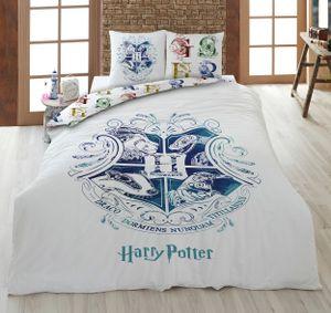 Wende Bettwäsche-Set Harry Potter 135 x 200 cm 80 x 80 cm · 100% Baumwolle · Hogwarts · deutsche Größe · Sommer-Bettwäsche