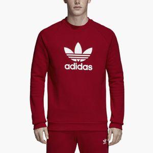 adidas Originals Trefoil Warm-Up Crew Herren Sweatshirt Rot, Größenauswahl:L