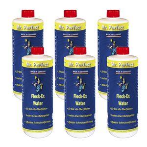 Mr. Perfect® Fleck-Ex Fleckenwasser, 6 x 1L - Textilreiniger beseitigt Verunreinigungen von Öl, Fett, Teer, Getränken, uvm.