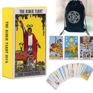 78 Karten Tarotkarten Orakelkarten Rider Waite Tarot Kartendeck Wahrsagekarten mit Tarot-Tasche