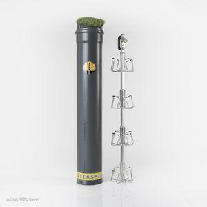 """BIERSAFE """"Der Klassiker"""" für 16 Flaschen mit Kunstrasen-Deckel zur perfekten Tarnung ihres Bier-Vorrats - der stromlose Erdkühlschrank mit WOW-Effekt"""