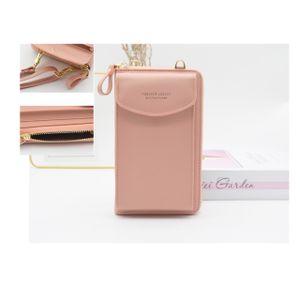 Handy Umhängetasche Damen,Crossbody Geldbörse Schultertasche Frauen Phone Tasche Multifunktionale Handytasche mit Vielen Fächern - Rosa