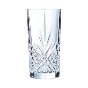 Arcoroc ARC L7255 Broadway Longdrinkglas, 380ml, Glas, transparent, 6 Stück