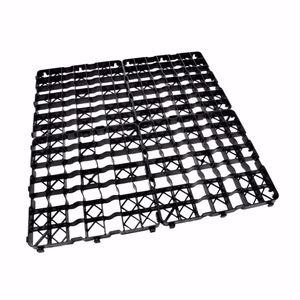 acerto® - 8x Rasengitter Kunststoff Platte 50 x 50 x 4 cm - Befahrbar - 2 m²