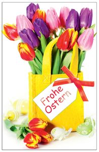 "SUSY CARD Oster-Grußkarte ""Tulpen"""
