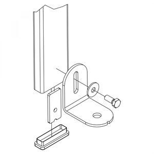 Hailo universal Fußhalter für Schachtleitern aus Edelstahl 1.4571